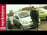 City Cars: VW Polo vs Toyota Yaris vs Vauxhall Corsa (2001)