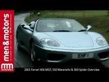 2001 Ferrari 456 MGT, 550 Maranello & 360 Spider Overview