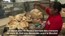 Mexique: les visages des stars du foot version latex