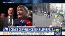 """Défilé du 1er-Mai: """"Ces milices d'extrême-gauche devraient être dissoutes depuis bien longtemps"""", dit Marine Le Pen"""