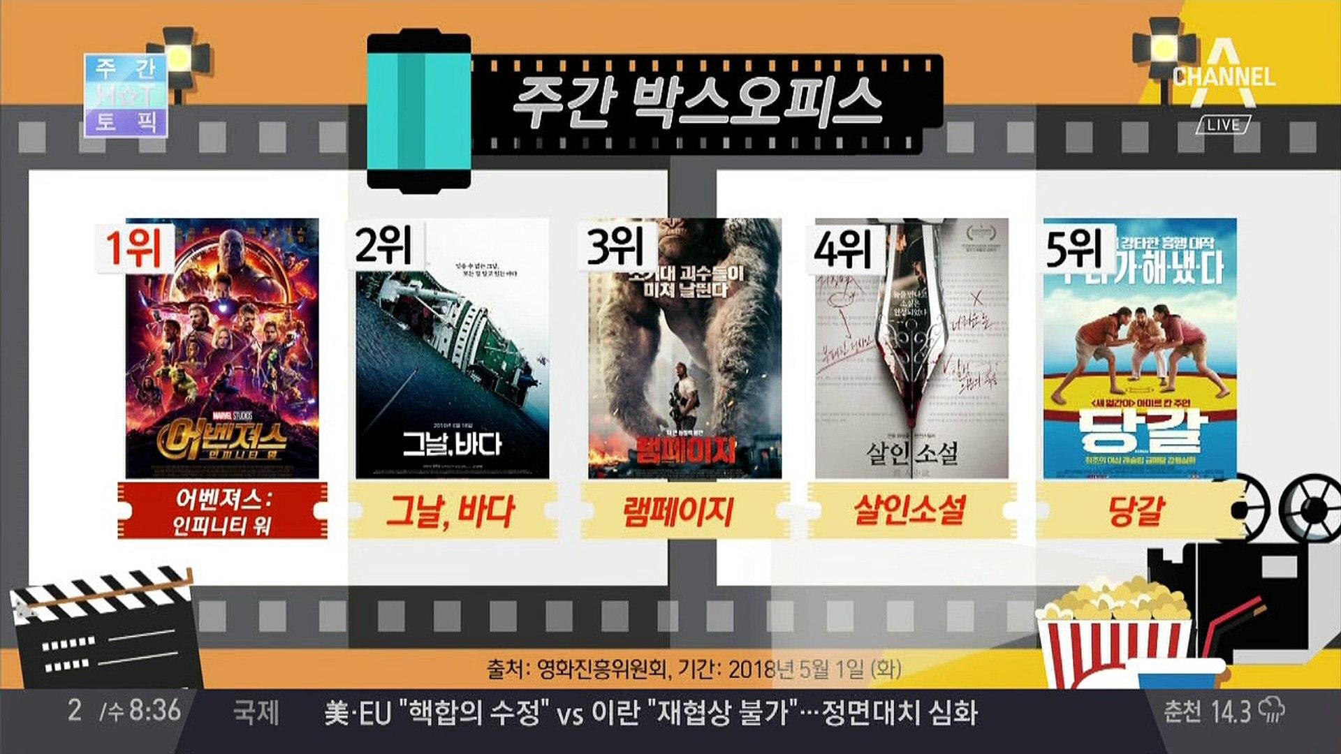 이번주 가장 핫한 영화 BEST5는?