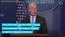 Former HHS Secretary Tom Price Shreds Key GOP Obamacare Argument