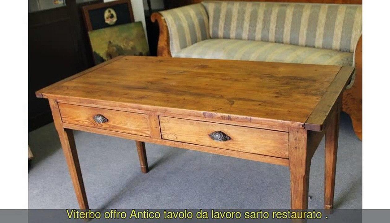 Tavolo Allungabile Antico Da Restaurare.Antico Tavolo Da Lavoro Sarto