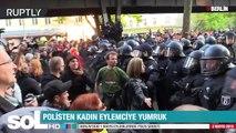 POLİSTEN KADIN EYLEMCİYE YUMRUK