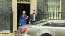 Theresa May departs 10 Downing Street ahead of PMQ's
