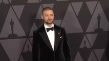 Justin Timberlake trades sexyback for soaking back as son greets him wet diaper