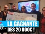 Floriane repart avec son chèque de 20 000 ¤ dans le Morning de Difool !