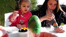 Peinture et décoration d'oeufs de Pâques - Activité extérieure fun !
