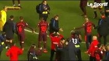Les joueurs du Barça fêtent le titre de champion d'Espagne