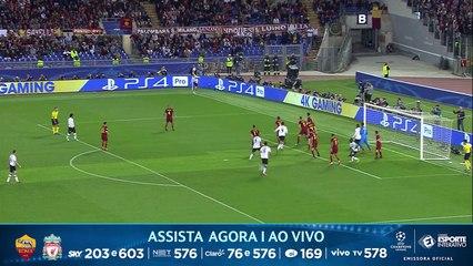 MAIS UM DO LIVERPOOL! Dzeko vacila e Wijnaldum aproveita para fazer o segundo do time inglês sobre a Roma!