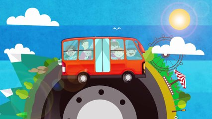 Green Grass Rhymes - Wheels on The Bus Song for Kids