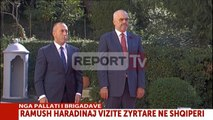 Report TV - Haradinaj nis vizitën zyrtare në Tiranë, takohet me Ramën