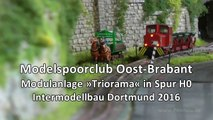 Intermodellbau 2016 Modelleisenbahn Triorama vom Modelspoorclub Oost Brabant - Ein Video von Pennula zum Thema Modellbau und Spielzeug-Eisenbahn
