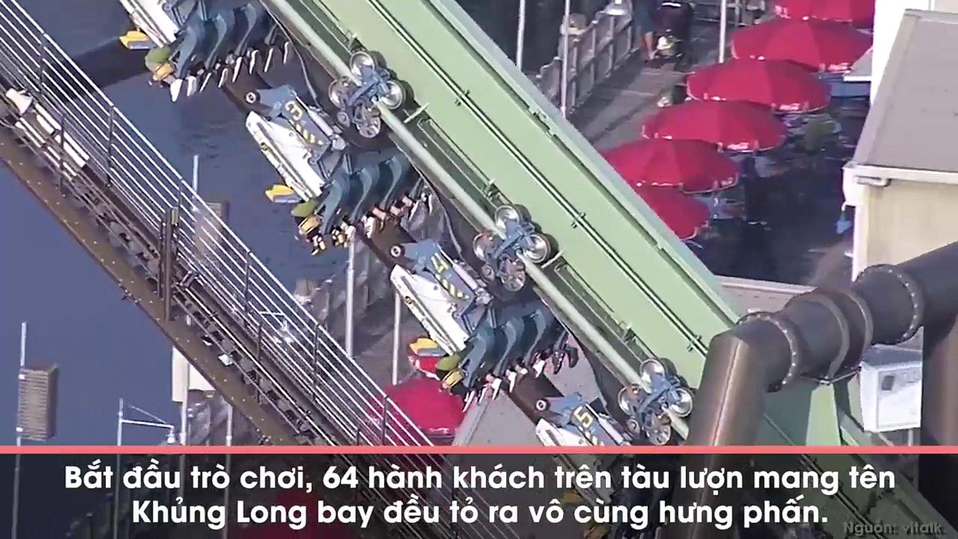 Rùng mình với cảnh tượng tàu lượn siêu tốc khi bị treo ngược ở độ cao 30m suốt 2 giờ