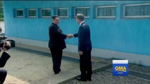 North Korea's Kim Jong Un crosses DMZ line for historic meeting with South Korea