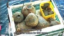 Travail archéologique sur la barge