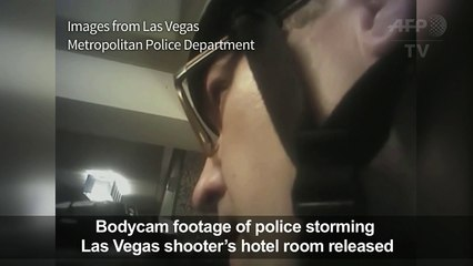 Las Vegas police release bodycam footage of Vegas shooting