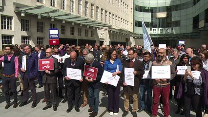 BBC holds vigil for slain journalists