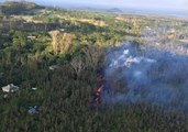 Lava Spews 125 Feet Into Air at Kilauea Fissure Eruption