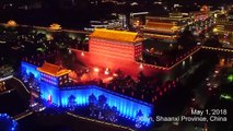 【Video】Lighting up the sky over the Chinese ancient city of Xi'an, 1,374 illuminated drones broke a Guinness World Record on May 1,2018, for the most unmanned a