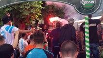 """Salzbourg-OM : """"Aulas, Aulas !"""", les supporters olympiens se voient déjà à Lyon"""