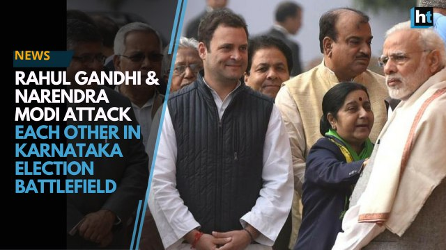 Narendra Modi and Rahul Gandhi are in Karnataka to campaign for their respective parties