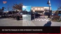 Des toilettes publiques transparentes en verre installées au Texas (Vidéo)