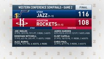 The Jim Rome Show: Jazz defeat Rockets 116-108 in Game 2