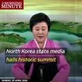 North Korea state media hails historic summit