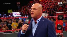 KURT ANGLE REVELA QUE JASON JORDAN ES SU HIJO EN ESPAÑOL WWE RAW 17/7/17 EN ESPAÑOL