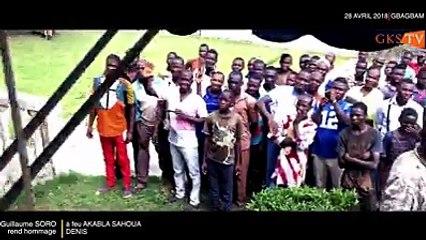 Soro Guillaume Kigbafori rend hommage à AKABLA Dénis dans son village de Gbagbam