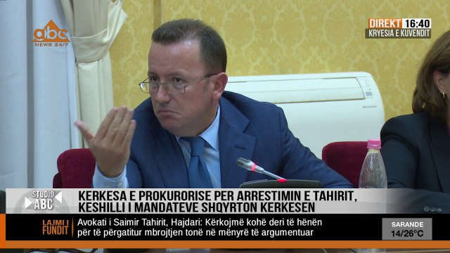 Kerkesa e Prokurorise per Tahirin, Ruçi: Mbledhja shtyhet per te shtunen ne 10:00