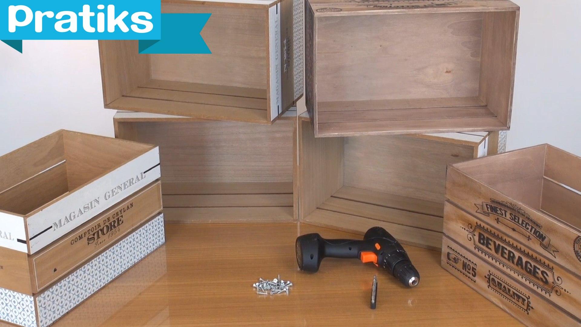 Comment Fabriquer Une Caisse En Bois diy : comment faire des meubles avec des caisses en bois ?