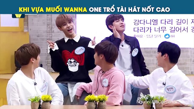 """Cười ná thở với khoảnh khắc triệu view: """"Vựa muối"""" Wanna One thi hát nốt cao giọng cá heo trên show"""