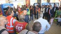 Grève SNCF : forte mobilisation pour les cheminots d'Aulnoyes-Aymeries - 04/05/2018