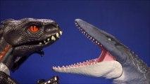 New Walking Indoraptor Vs Mosasaurus  Unboxing Jurassic World Mattel Dinosaur Toys Imaginext