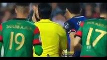 تدخل خطير من لاعب المولودية الجزائري في حق مهاجم فريق الدفاع الحسني الجديدي دوري ابطال افريقيا 2018