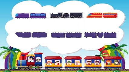 Паровозики - Развивающий мультик для малышей про поезда