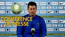 Conférence de presse Paris FC - AS Nancy Lorraine (2-1) : Fabien MERCADAL (PFC) - Didier THOLOT (ASNL) - 2017/2018