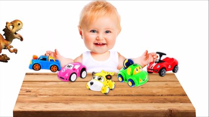 Learn Colors with Cars for Children and Pyramid Surprise - Colors for Kids