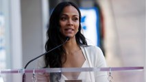 Zoe Saldana Gets A Star On Hollywood Walk Of Fame