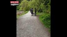 Deux jeunes surpris en train de voler une oie au bord d'un lac (Vidéo)