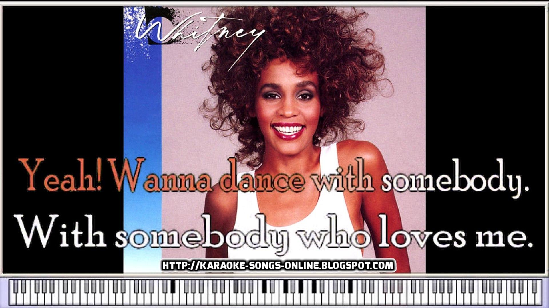 Whitney Houston -I Wanna Dance With Somebody - Karaoke instrumetal version  with lirycs