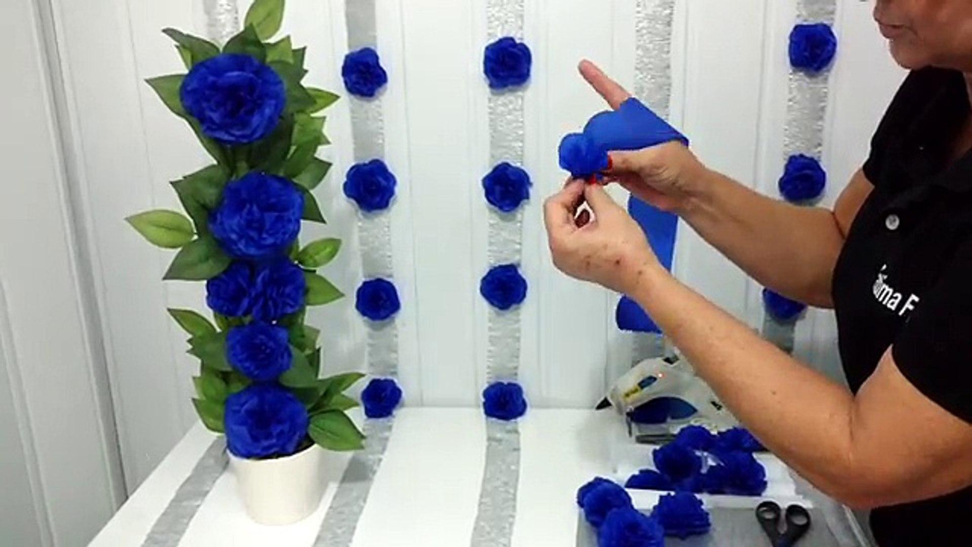 Aula 42 Como Fazer Um Painel Com Flores De Papel Crepom