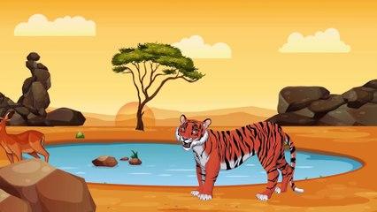 Динозаврик Дэнни - Лев и Тигр (серия 18) - Развивающие мультики для самых маленьких