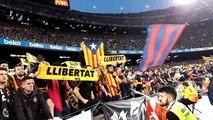 Crits de 'llibertat' el Barça-Madrid del Camp Nou