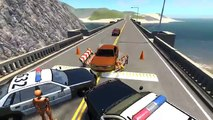 BeamNG.drive - Crash Police Block with Cars, Trucks and more