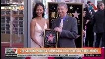 Zoe Saldaña recibió su estrella en el Paseo de la Fama de Hollywood