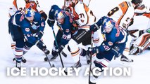 PLAYER'S PERSPECTIVE: from the eyes of an Ice Hockey Player.