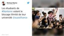 Les étudiants de Nanterre votent le blocage illimité de leur université.